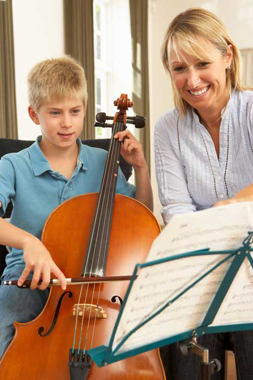 Teaching a Student to Play Cello