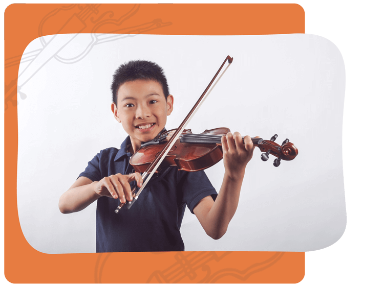 Student Takes Violin Lessons