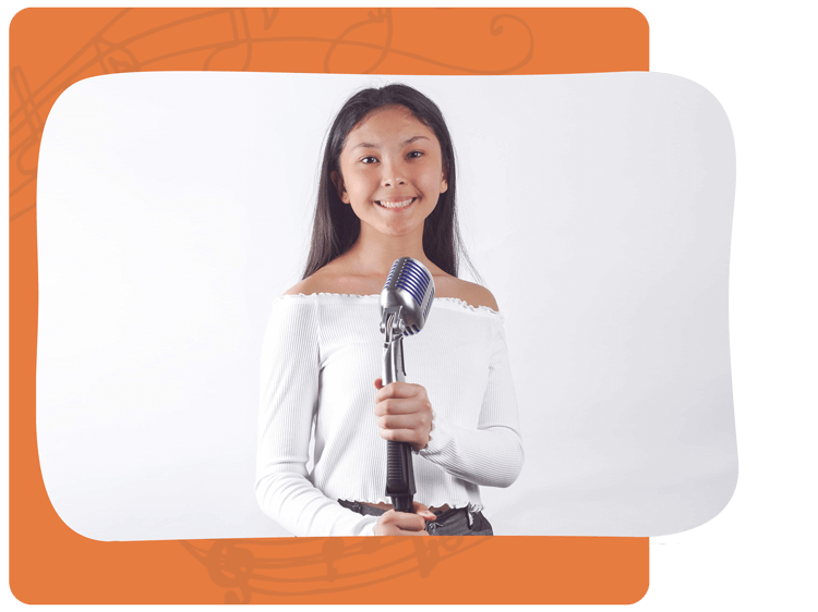 Girl Taking Voice Lessons in Mississauga