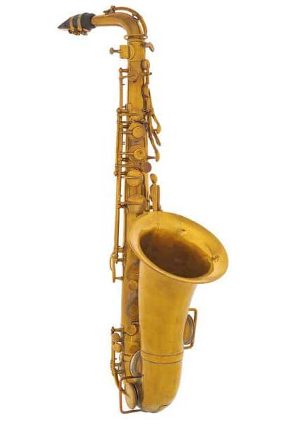 First Saxophone - made of wood