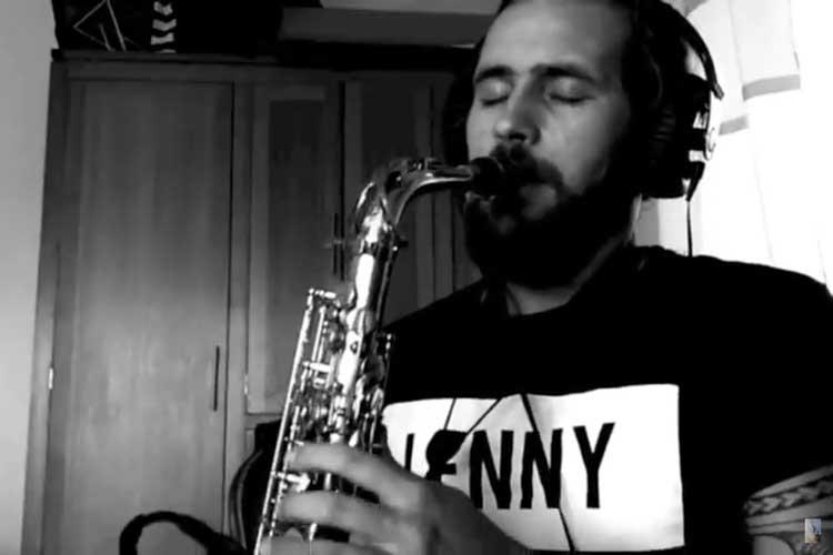 Jim Rolland - Jimmy Sax Playing Saxophone