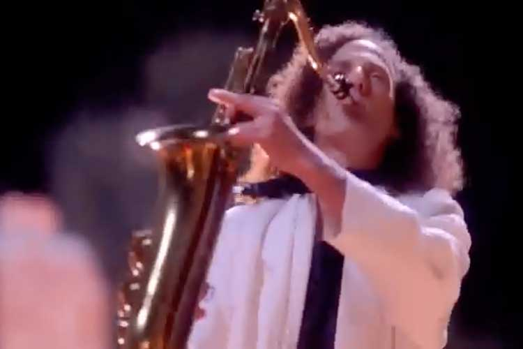 Kenny G. Playing Saxophone